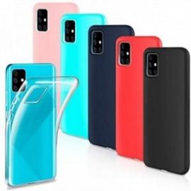 Lot de 6 Coques pour Samsung Galaxy A51 Housse Silicone Souple  étui Protection Bumper Case Cover