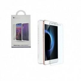 Pack pour iPhone 12 mini 5,45'' coque souple + film en verre trempé