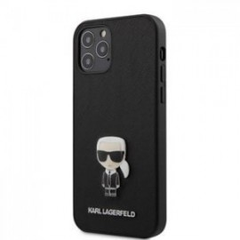 Coque Karl Lagerfeld Saffiano Iconic pour iPhone 12 Pro Max noir