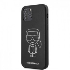 Coque Karl Lagerfeld PU Embossed pour iPhone 12 /12 Pro 6,1'' blanc