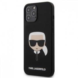 Coque Karl Lagerfeld Head Silicone pour iPhone 12 Pro Max noir