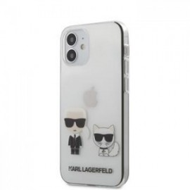 Coque Karl Lagerfeld PC/TPU Karl &Choupette pour iPhone 12 mini 5,45'' Transparent