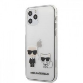 Coque Karl Lagerfeld PC/TPU Karl &Choupette pour iPhone 12  / 12 pro Transparent
