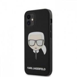 Coque Karl Lagerfeld Glitter Head pour iPhone 12 mini 5,45'' noir