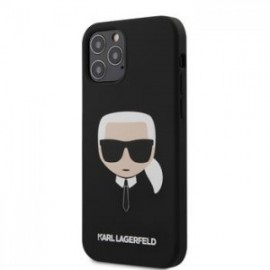 Coque Karl Lagerfeld Head Silicone pour iPhone 12 /12 Pro 6,1'' noir