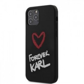 Coque Karl Lagerfeld Forever Silicone pour iPhone 12 /12 Pro 6,1'' noir