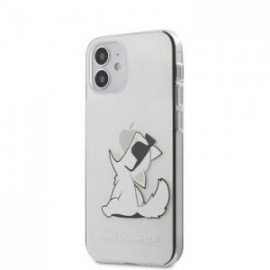 Coque Karl Lagerfeld PC/TPU Choupette Eat pour iPhone 12 mini 5,45'' Transparent