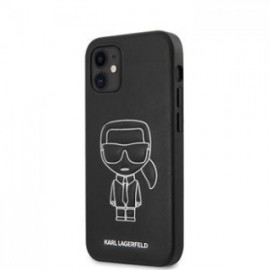 Ccoque Karl Lagerfeld PU Embossed pour iPhone 12 mini 5,45'' blanc
