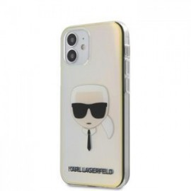 Coque Karl Lagerfeld PC/TPU Head pour iPhone 12 mini 5,45'' Iridescent