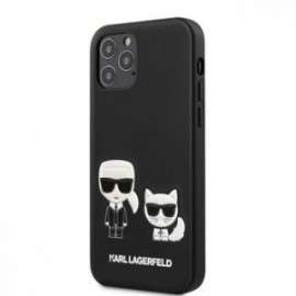 Coque Karl Lagerfeld PU Karl &Choupette pour iPhone 12 /12 Pro 6,1'' noir