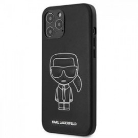 Coque Karl Lagerfeld PU Embossed pour iPhone 12 Pro Max blanc