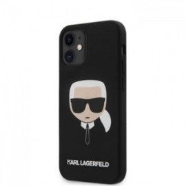 Coque Karl Lagerfeld Head Silicone pour iPhone 12 mini 5,45'' noir