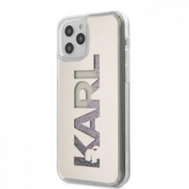 Coque Karl Lagerfeld Liquid Glitter Multi Mirror pour iPhone 12 Pro Max argent