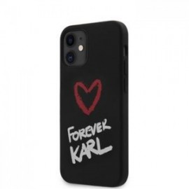 Coque Karl Lagerfeld Forever Silicone pour iPhone 12 mini 5,45'' noir