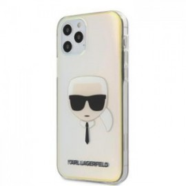 Coque Karl Lagerfeld PC/TPU Head pour iPhone 12 /12 Pro 6,1'' Iridescent