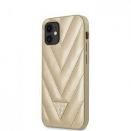 Coque Guess V Quilted pour iPhone 12 mini 5,45'' or