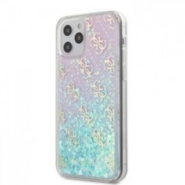 Coque Guess 4G Liquid Glitter pour iPhone 12 mini 5,45'' Iridescent