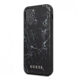 Coque Guess PC/TPU Marbre pour iPhone 12 Pro / 12 Max noir