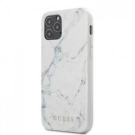 Coque Guess PC/TPU Marbre pour iPhone 12 Pro Max blanc