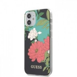 Coque Guess PC/TPU Flower N.1 pour iPhone 12 mini 5,45'' noir