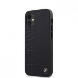 Coque BMW Leather Hot Stamp pour iPhone 12 mini Navy