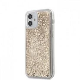 Coque Guess 4G Liquid Glitter pour iPhone 12 mini 5,45'' or