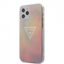 Coque Guess PC/TPU T&D Gold Triangle 01 pour iPhone 12 /12 Pro 6,1'' rose