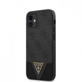 Coque Guess 4G Triangle pour iPhone 12 mini Gris