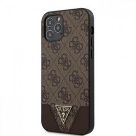 Coque Guess 4G Triangle pour iPhone 12 /12 Pro 6,1'' marron