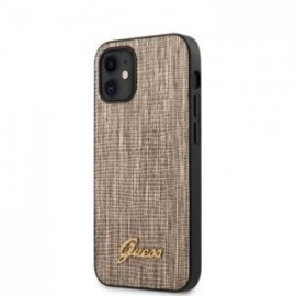 Coque Guess Lizard pour iPhone 12 mini 5,45'' or