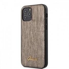 Coque Guess Lizard pour iPhone 12 /12 Pro 6,1'' or
