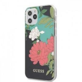 Coque Guess PC/TPU Flower N.1 pour iPhone 12 /12 Pro 6,1'' noir
