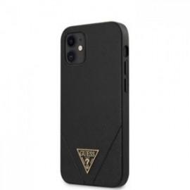 Coque Guess Saffiano V Stitch pour iPhone 12 mini noir