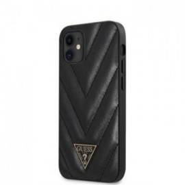 Coque Guess V Quilted pour iPhone 12 mini 5,45'' noir