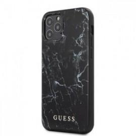 Coque Guess PC/TPU Marble pour iPhone 12 Pro Max noir