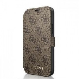 Etui folio Guess 4G pour iPhone 12 mini marron