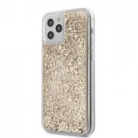 Coque Guess 4G Liquid Glitter pour iPhone 12 Pro Max or