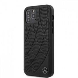 Coque Mercedes Leather Bow pour iPhone 12 /12 Pro 6,1'' noir
