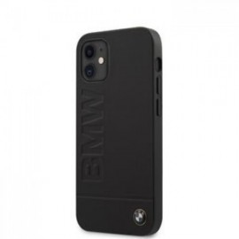 Coque BMW Leather Hot Stamp pour iPhone 12 mini 5,45'' noir
