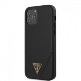 Coque Guess Saffiano V Stitch pour iPhone 12 /12 Pro 6,1'' noir