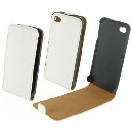 Housse iphone 4 cuir blanc