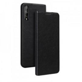 Etui folio noir pour Huawei P Smart S