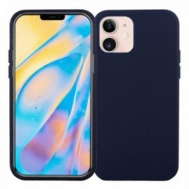Coque pour iPhone 12 / 12 Pro 6,1' softy touch bleue nuit