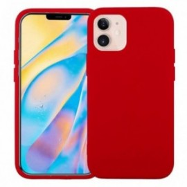 Coque pour iPhone 12 mini 5,4' softy touch rouge