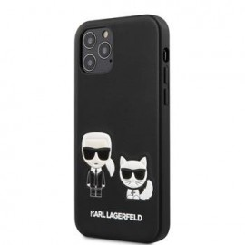 Coque Karl Lagerfeld PU Karl &Choupette pour iPhone 12 Pro Max noir