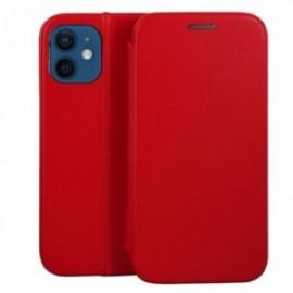Etui pour iPhone 12 mini Folio stand magnétique rouge