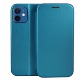 Etui pour iPhone 12 mini Folio stand magnétique bleu