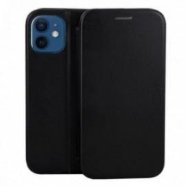 Etui pour iPhone 12 mini Folio stand magnétique noir