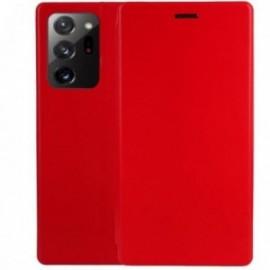 Etui pour Samsung Note 20 Folio stand magnétique rouge