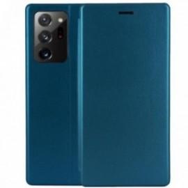 Etui pour Samsung Note 20 Folio stand magnétique bleu